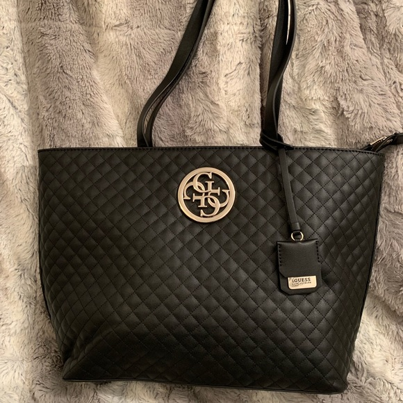 Guess G lux large quilted tote